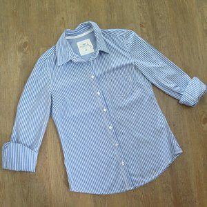 H&M Blue and White Striped Dress Shirt